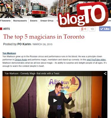 Top Magicians Toronto